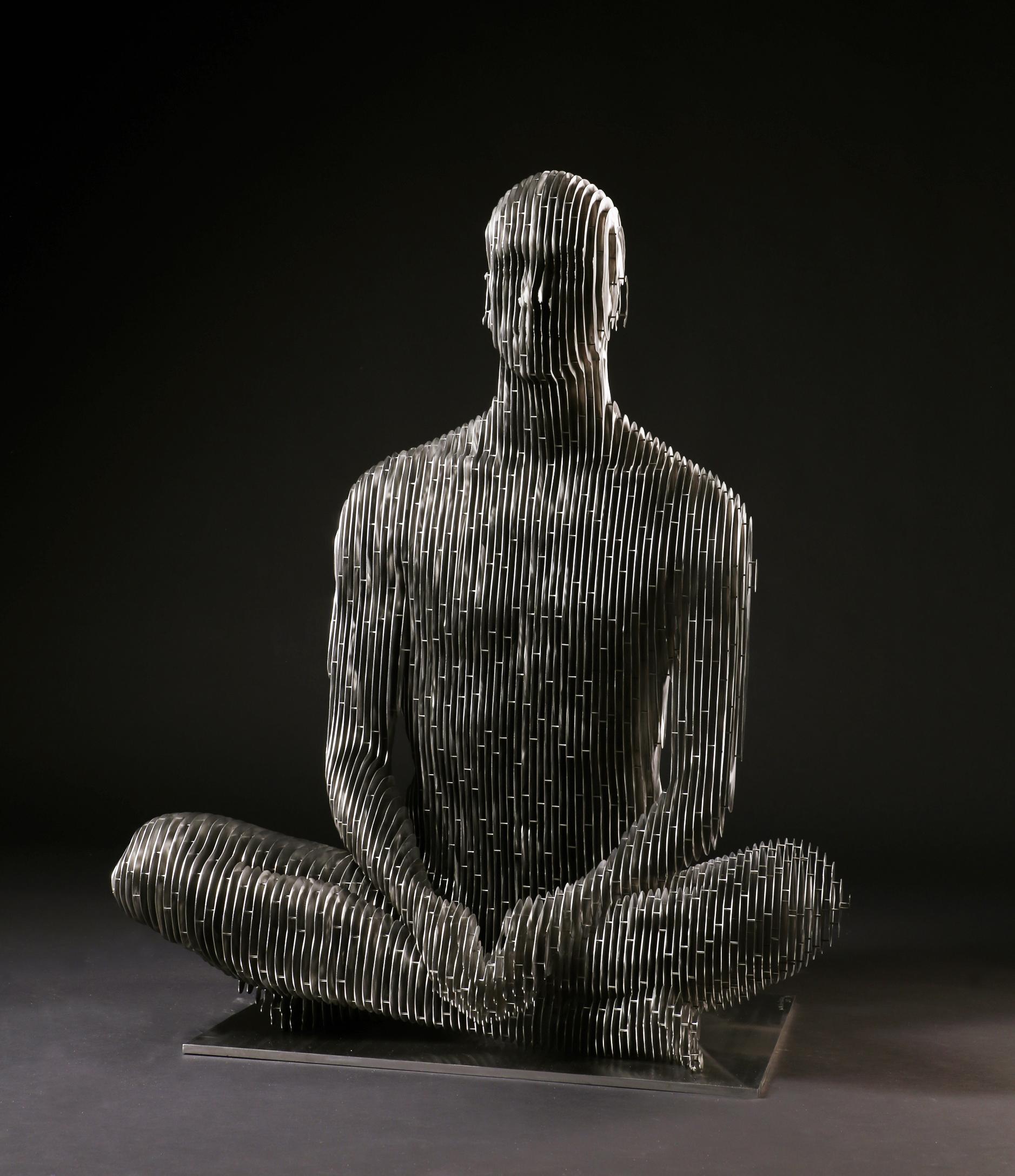 271_Life-size sitting Man