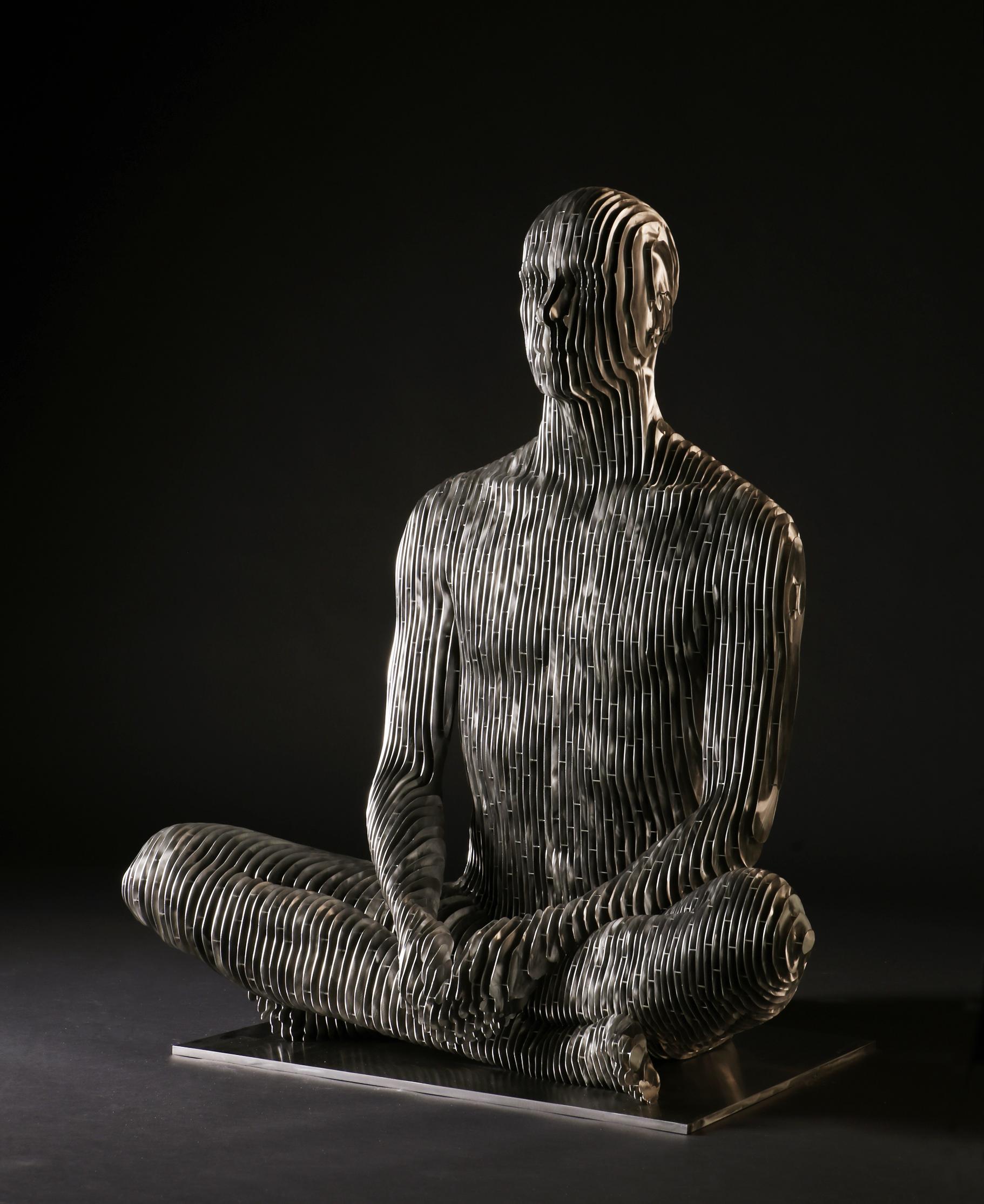 272_Life-size sitting Man