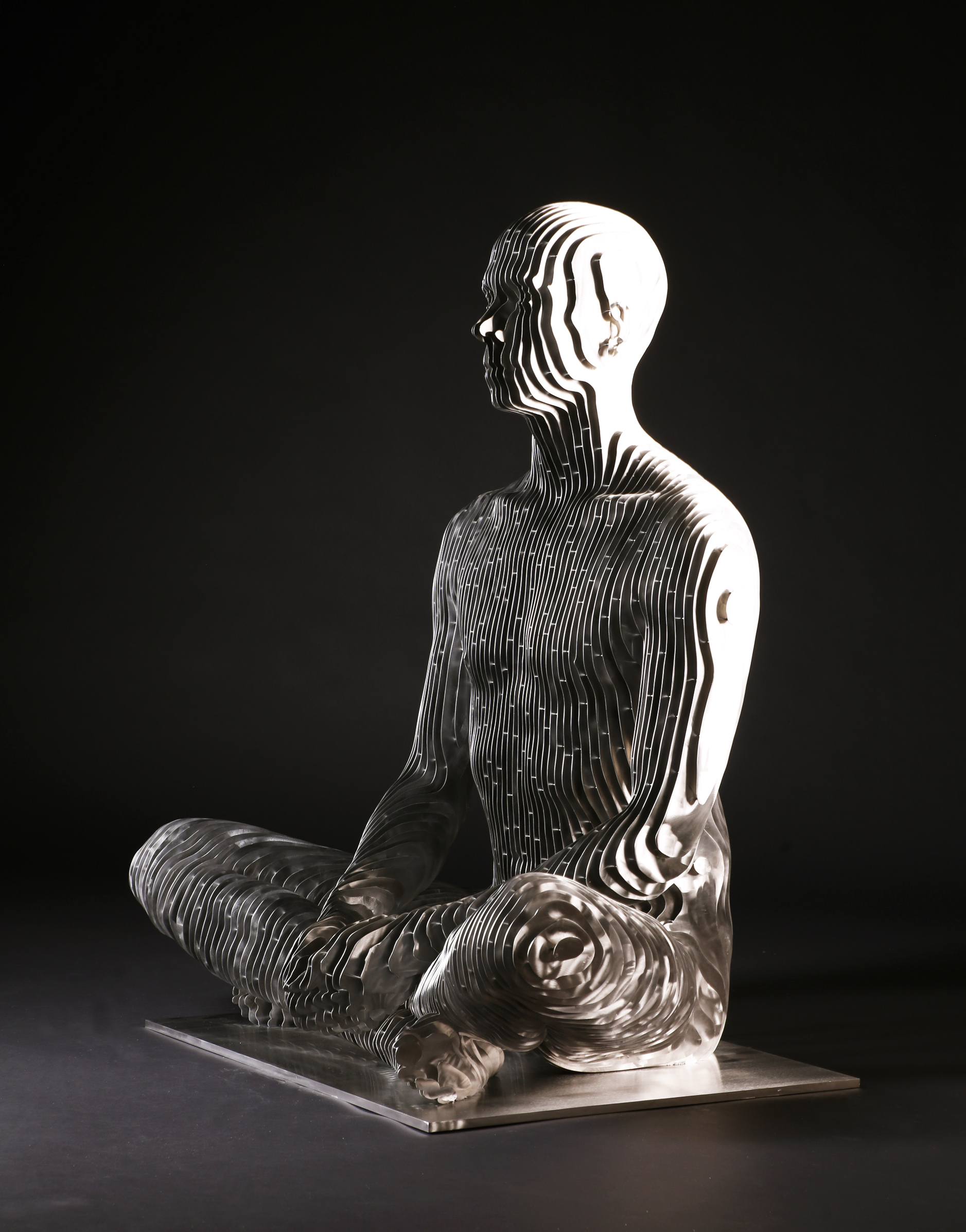 273_Life-size sitting Man