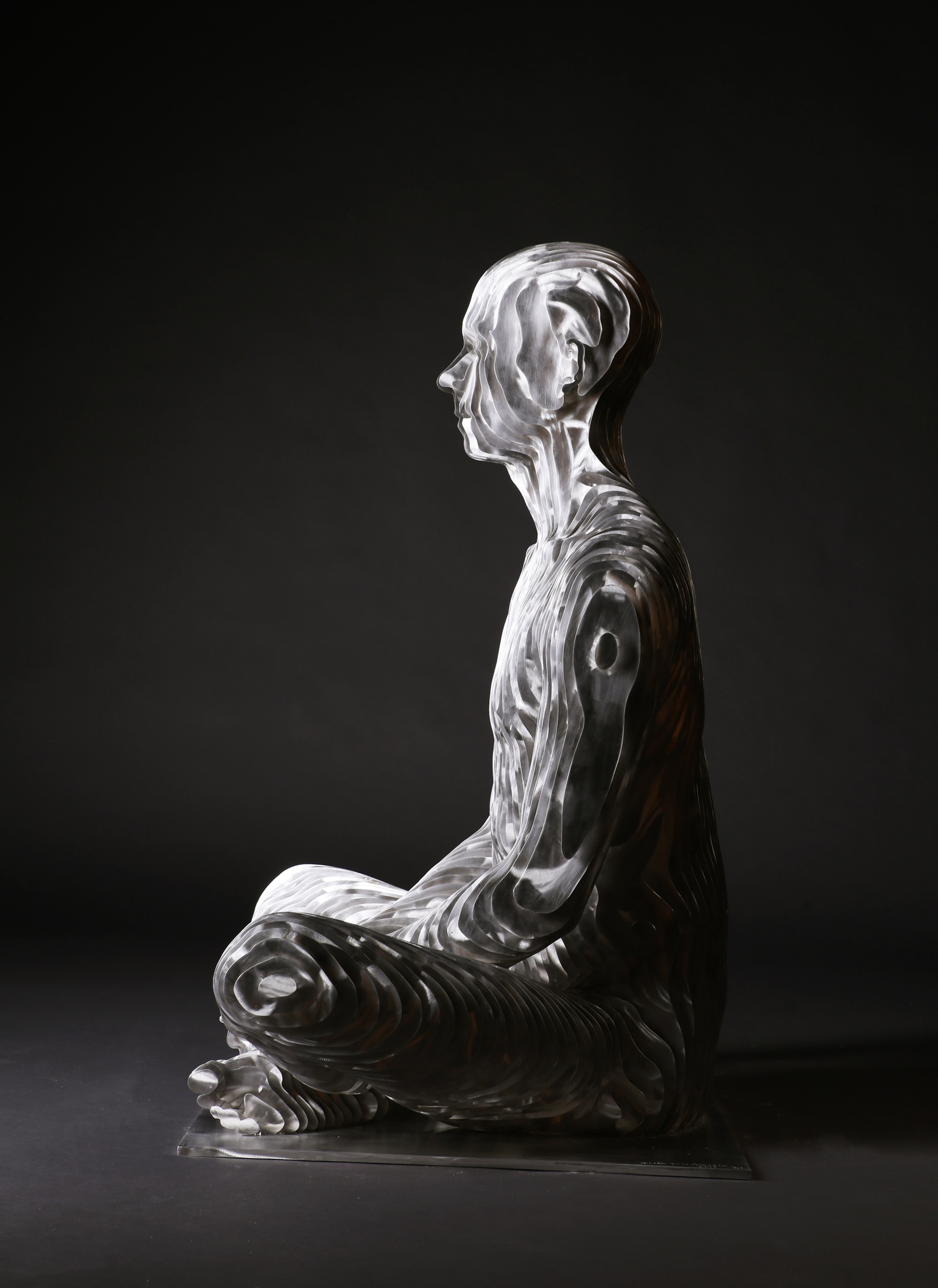 274_Life-size sitting Man